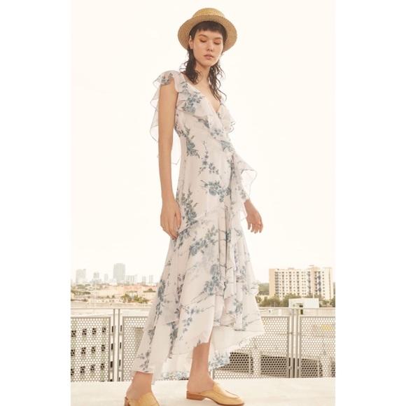 a3c478d056f9 WAYF Elanor Ruffle Faux Wrap Maxi Dress. M_5b85ffb6cdc7f71276d0b487